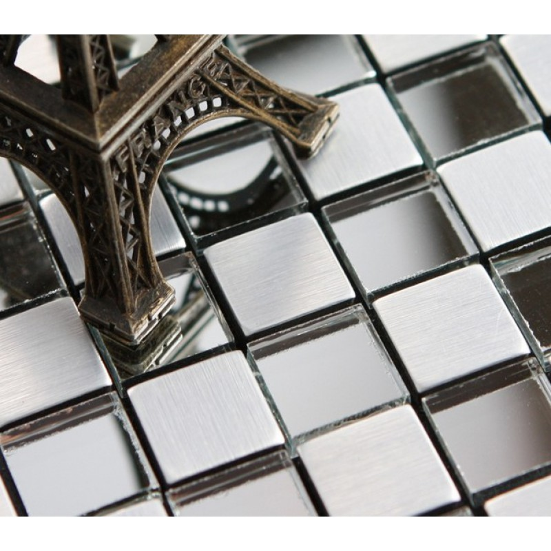 mosaïque feuilles verre mosaïque Crystal Backsplash idées ...