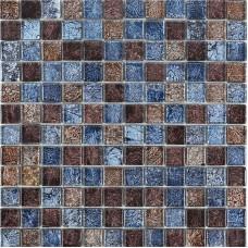 La mosaïque en verre glacé tuile dosseret idées salle de bains feuilles brun et bleu cristal verre mur carreaux cuisine bon marché dosserets CGT133