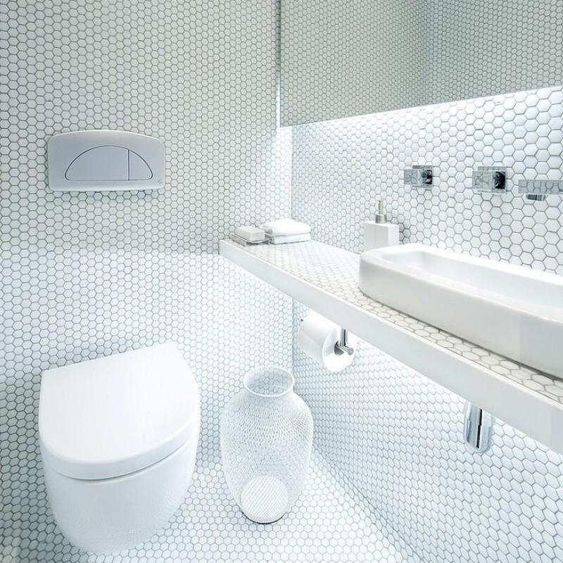 Beige et blanc porcelaine mosaïque carrelage vernissé piscine ...