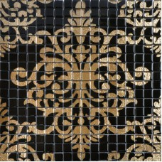Murales tuile verre cristal noir et or dosseret TMF007 plaqué mosaïque puzzle mur carrelage salles de bains avec carreaux de mosaïques