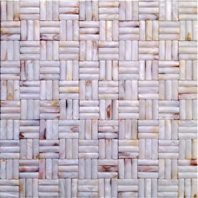 Dosseret de mosaïque tuiles de cuisine et salle de bain pas cher mère perle  miroir arqué coquille tuile coquillage naturel mur et plancher DWS012