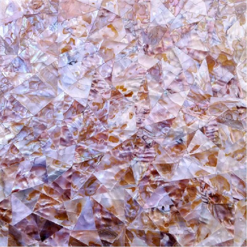 Coquillage feuilles mosaïques mur dosseret idées naturelles mère de ...