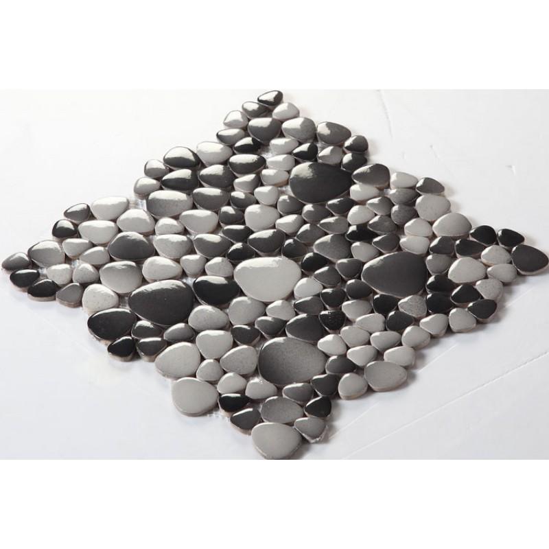 Gres Cerame Emaille Galets Carrelage Mosaique Backsplash De Cuisine De Feuilles Carreaux Fambe Piscine Ceramique Carrelage Fs1710 Porcelaine Mosaiques