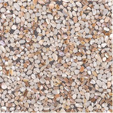 Coquillage carreaux mère de dosseret perle irrégulière pavement tuiles copeaux aléatoire coquille carrelage pour cuisine et salle de bain FWS004