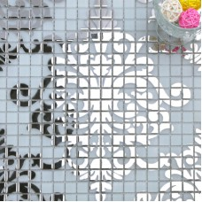 Argent verre mosaïque carrelage mur murales dosseret plaqué crystal patrons pour les conceptions de douches TMF058 puzzle carrelage pour cuisine et salle de bains