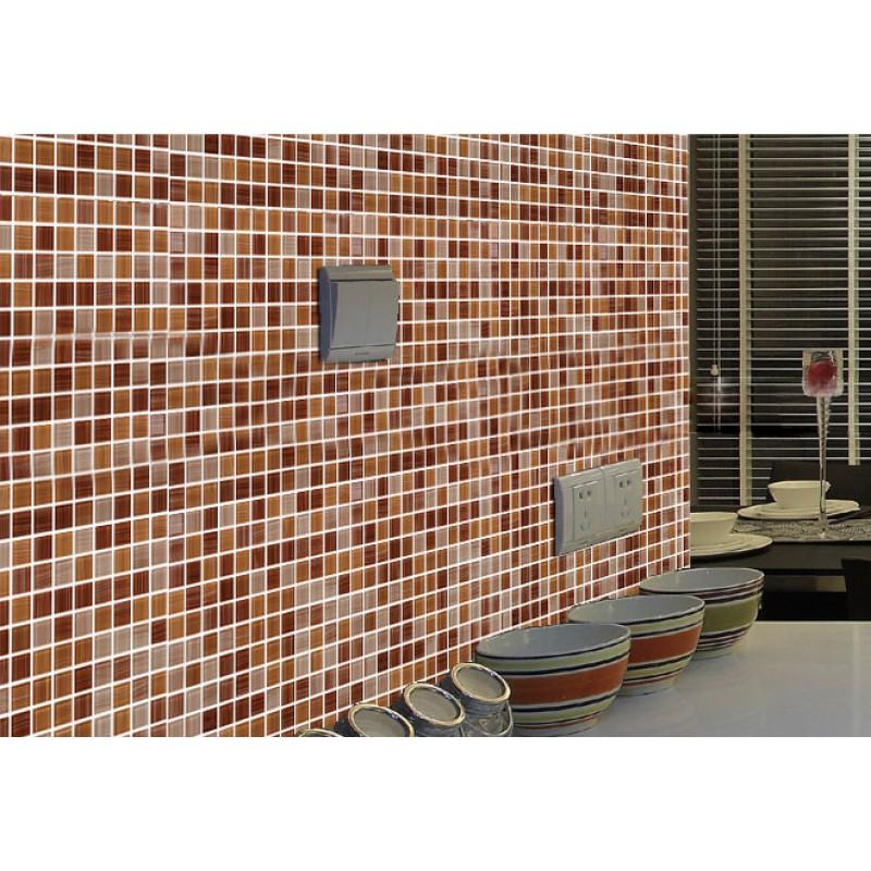 Cristal Verre Tuile De Mosaïque Feuille Mur Stickers Cuisine Dosseret Tile  Plancher Pas Cher Stickers Salle De Bain ...