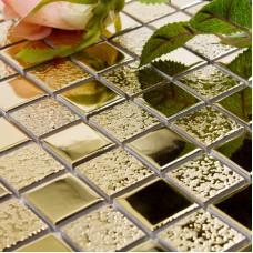 """Or en porcelaine tuile carré 1"""" glacis mosaïque en céramique placage artisan cuisine dosseret miroir carreaux GPT062"""