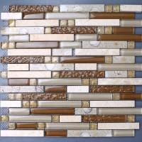 Pierre mosaïque carrelage feuilles cuisine dosseret carreaux emboîtables en marbre KS157 cristal verre tuile résine shell salle de bain sticker mural