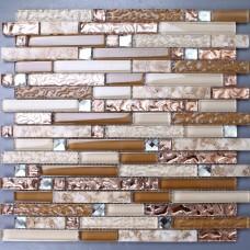 Verre cristal mosaïque feuille autocollants cuisine dosseret Tile Shell étage sticker Design salle de bain douche piscine transparente