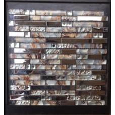 Diamant Metal verre tuiles de mosaïque de cuisine dosseret argent acier inoxydable tuile emboîtement cristal clair mur miroir salle de bain douche dessins CGT001