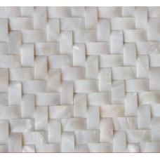 Coquille blanche carreaux mère arquée de tuile perles chevrons mosaïque motifs MPD010 cuisine dosseret seashell bon marché 3d carrelage