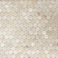 Penny rond dosseret de carreaux pour cuisine et salle de bains mère de mur de carreaux de sol nacre mosaïque feuilles coquillage MPMC01