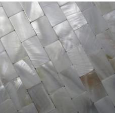 Tuiles de mère blanche des mosaïques de coquille d'eau douce des feuilles perle tuile dosseret sans soudure métro mosaïque pour mur de cuisine et salle de bains designs MP008M