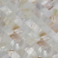 Art de mère de Pearl carreaux sol 100 % naturel Shell mosaïque carreaux Backsplash cuisine Design autocollants de mur de salle de bain douche SN15252
