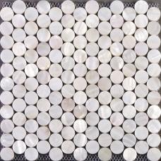 Mère de perle tuile dosseret de carreaux Seashell pour cuisine et salle de bains sou ronde mosaïque carrelage décoration mur blanc coquille avec base ST014
