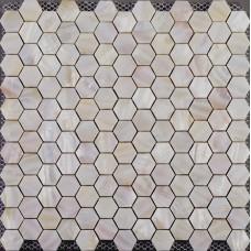 Mère de mosaïque à six pans creux de perle tuiles dosseret bon marché de salle de bain douche carreaux dessins irisé seashell carrelage matériaux coquille normale ST019