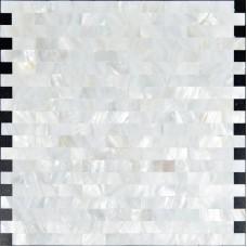 Mère de dosseret de carreaux de métro perle pour cuisine et salle de bain douche sans soudure mur carreaux design coque blanche pas cher mosaïque feuilles ST061