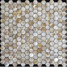 Naturelles Seashell mosaïque Iridescence mère de perle carreaux Backsplash de cuisine Design hexagone Shell carreaux salle de bain ST064