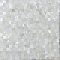 """La mère blanche Coquillage Nacre carreaux mosaïque feuilles transparente carré 3/5"""" dosseret de carreaux coquille normale pour les carreaux muraux cuisine et salle de bains ST076"""