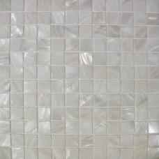 Mère de perle mosaïque carré 1 pouce coquille blanc d'eau douce carreaux cuisine dosseret salle de bain douche mur de carreaux carreaux design MPT0251