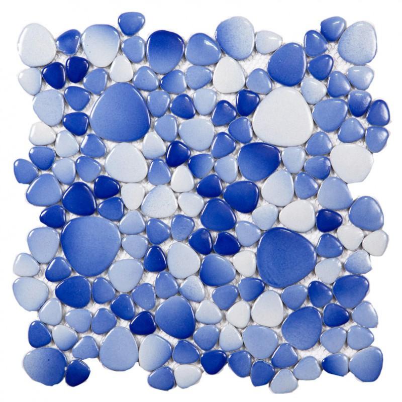 galets de grès cérame carrelage bleu océan cuisine dosseret pas cher ZYS7  salle de bains designs feuilles de mosaïque de carreaux de revêtements de  ...