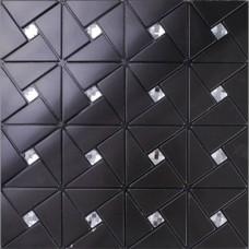 L'alucobond noir carreaux auto adhésif aluminium composite verre diamant mosaïque cristal peler et coller les carreaux de mur de cuisine dosseret ALT4061