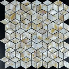 Diamant de la mère de Pearl Shell tuile feuilles Iridescence Seashell mosaïque designs 3d cuisine dosseret carreaux de salle de bain douche murs ST068