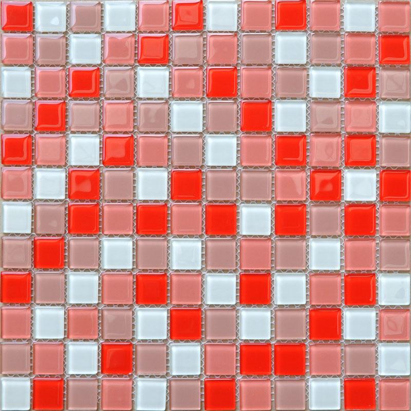 Cristal verre tuile de mosaïque feuille autocollants cuisine dosseret Tile  plancher pas cher sticker Design salle de bain douche piscine AH229