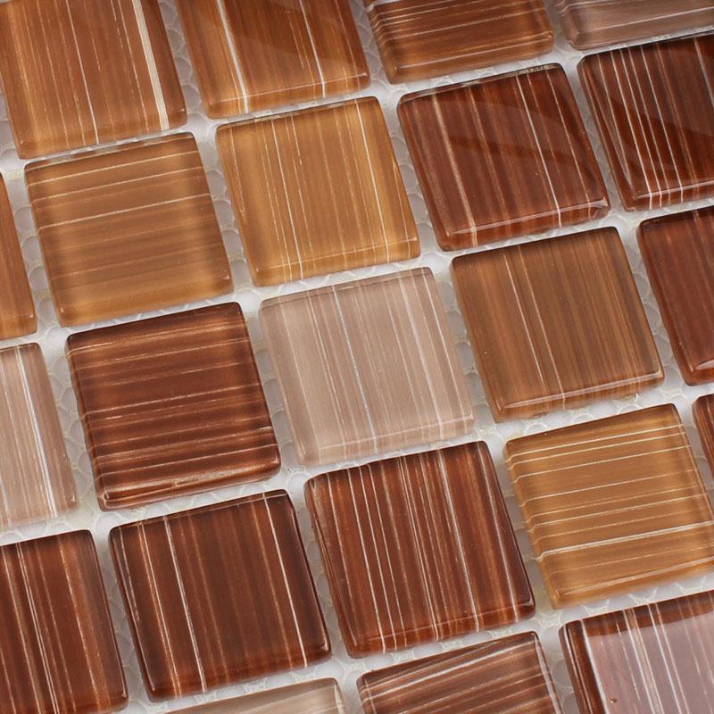 Cristal Verre Tuile De Mosaïque Feuille Mur Stickers Cuisine
