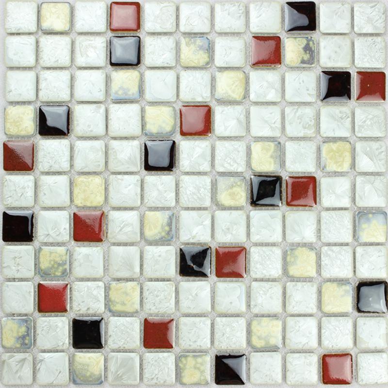 Mosaique De Carreaux De Porcelaine Emaillee Ceramique Mur Decoration Cuisine Dosserets Carreaux Gres Cerame Emaille Livraison Gratuite Carreaux